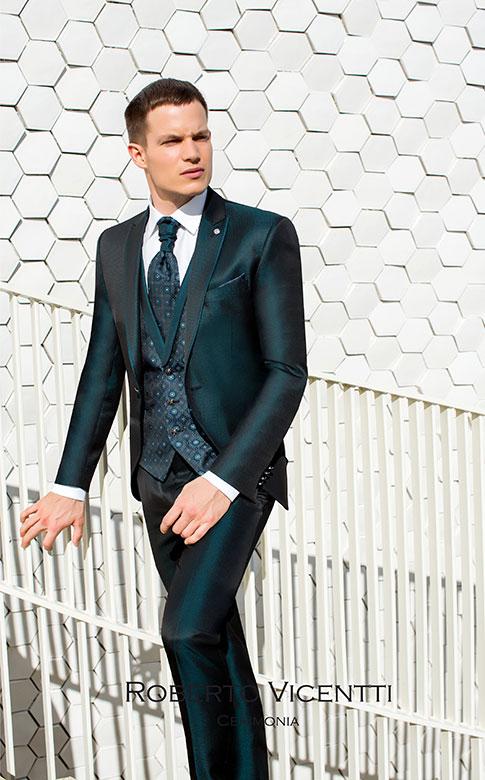Trajes de novio modernos sin corbata